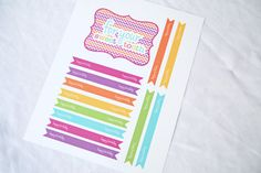 Sweet Shoppe Candy Shop Party Happy Birthday Drink Straw Flags Sweet Tooth Toothbrush Favor Sign Printable PDF This printable is perfect for your little ones Sweet Shop birthday party! The Happy Birthday Straw Flags for guests drinks adds that little