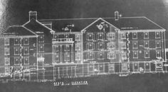 A blue print of the North Elevation of the  No.13 Miami University Residence Hall.