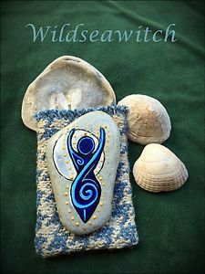 Sea-Stone-SPIRAL-GODDESS-ALTAR-CHARM-Pouch-Pocket-Talisman-Amulet-Witch-Pagan