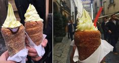 The doughnut cone found at Prague's Good Food Coffee and Bakery have captured our hearts and minds.