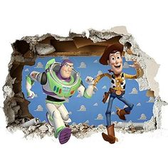 Toy Story Wall sticker Vinyl wall art 2 SIZES for cars bikes caravans homes Customise4UTM (toystory wall smash, 700mm)