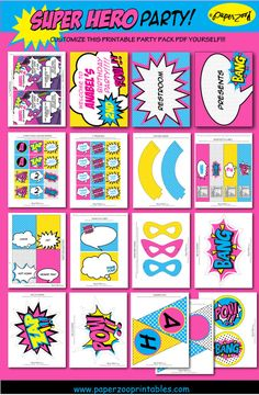INSTANT DOWNLOAD Superhero Girl Printable 5 by PaperZooPrintables