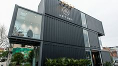 Aether Apparel store in San Francisco built from shipping containers.
