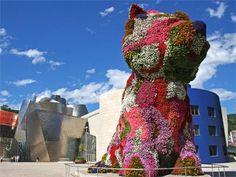 Le puppy fleuri de Jeff Koons devant le Guggenheim à Bilbao