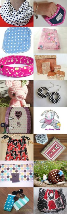 Polka Dots Everywhere by Michelle on Etsy--Pinned+with+TreasuryPin.com