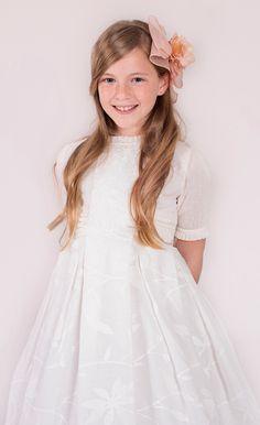 $103.59-Beautiful A-Line Embroidered  Short-Sleeve Flower Girl Dress/ Little Girl Wedding Dress. http://www.ucenterdress.com/a-line-floor-length-embroidered-jewel-neck-short-sleeve-flower-girl-dress-pMK_400064.html.  Shop for best flower girl dress, baby girl dress, girl party dress, gowns for girls, dresses for girl, children dresses, junior dress, pageant dresses for girls We have great 2016 fall Flower Girl Dresses on sale. Buy Flower Girl Dresses online at UcenterDress.com!