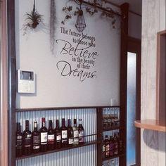 トタン/ディアウォール/男前/いなざうるす屋/いなざうるす屋さん×nikoand.../DIY…などのインテリア実例 - 2016-04-29 17:49:06 | RoomClip(ルームクリップ) Interior, Wall, Room, Home Decor, Sugar Pot, Chalk Art, Shelves, Kitchen, Bedroom