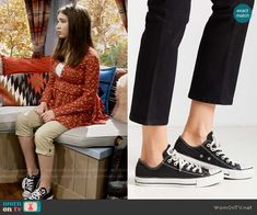 Riley's sneakers on Girl Meets World.  Outfit Details: https://wornontv.net/58823/ #GirlMeetsWorld