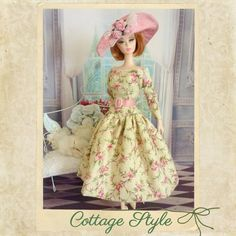 Cottage Style  for Silkstone Barbie vintage repro by Rosedollhouse, $42.00
