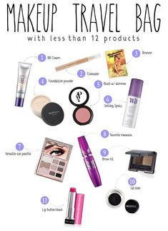 Makeup for your Hand Luggage