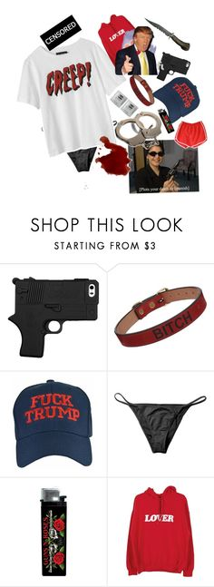 """""""President's baby"""" by vintage-nymphet ❤ liked on Polyvore featuring Saddlers Union, North, House of Holland, Bianca Chandôn, Retrò, badass, nymphet and oldermendoitbetter"""