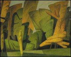 """Woodland Pattern,"" Alfred Joseph (A.J.) Casson, ca. 1945, oil on board, 12 x 15"", private collection."