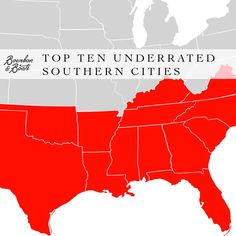 Top Ten Underrated Southern Cities