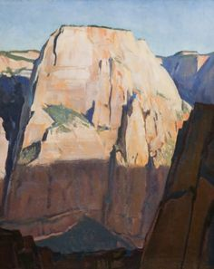 Great White Throne Zion Canyon Utah By Maynard Dixon Wall Art from Beverly A Mitchell. Choose From Print or Oil on Canvas Reproduction on all Artwork. Framed and Unframed Prints and Paintings Ship Worldwide for Free using UPS 3 Day Express. Western Landscape, Landscape Art, Landscape Paintings, Landscapes, Maynard Dixon, Zion Canyon, Grand Canyon, American Impressionism, Desert Art