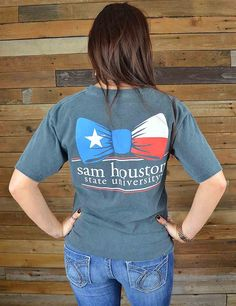 Has Sam Houston tied you in? Show your love for SHSU in this new SHSU Texan Bow Tie short sleeve t-shirt! GO Bearkats!