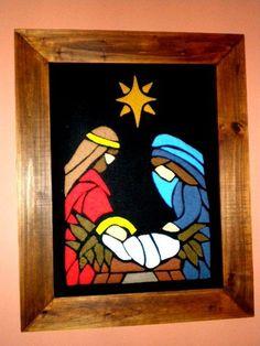 Wood Crafts, Nativity, Batman, Superhero, Fictional Characters, Christmas Trees, Google, Repurposed, Molde