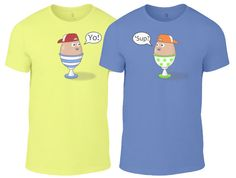 Twins Kids' T-Shirt Set, Egg Buddies, 2 Pack, Sizes 3rs to 10yrs, Different Colour Combinations.