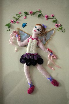 stumpwork fairy