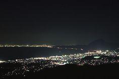 十文字原展望台の夜景 Oita, Japan, Celestial, Travel, Outdoor, Mirrors, Outdoors, Viajes, Destinations