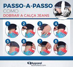 Tutorial em 8 passos para dobrar a barra da calça jeans - El Hombre