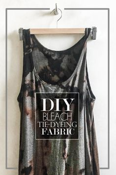 If you want to give some of your clothes a major update, check out my DIY Bleach Dye tutorial! You can easily create a tie dyed look with bleach. Check out this DIY Bleach Tie Dying Tutorial on Shutterbean! Tye Dye Bleach, Bleach Dye Shirts, Tie Dye Shirts, Tie Dye With Bleach, Bleach Pen, Diy Clothes Bleach, Bleaching Clothes, How To Tie Dye, How To Dye Fabric