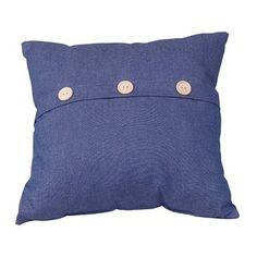 "Button Cotton #Pillow Poly Blend 17"" #Square  # 64396 Shop --> http://www.rensup.com/Pillows/Pillows-Blue-Cotton-Poly-Blend-Button-Pillow-17-inch-Square/pd/64396.htm?CFID=1680586&CFTOKEN=cab66abb281fba27-F493C94D-0CD2-37B7-E4FCB725868F70FD"