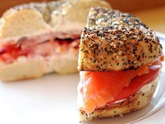 Bagels with Lox and Cream Cheese recipe