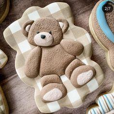 Baby Boy Cookies, Bear Cookies, Baby Shower Cookies, Baby Shower Fun, Cookies Et Biscuits, Crazy Cookies, Fancy Cookies, Royal Icing Cookies, Custom Cookies