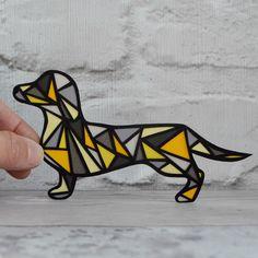 Daschund art sausage dog art dog lover gift daschund