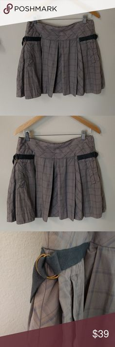 Anthropologie sale skirt by fei Side pockets, buckles and pleats oh my! Trifecta of cuteness. Made by fei for Anthropologie Anthropologie Skirts