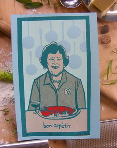 A Julia Child portrait on etsy