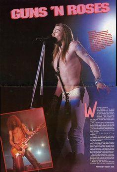 Axl Rose & Slash of Guns N' Roses, early 90s #axlrose #waxlrose #gnr…