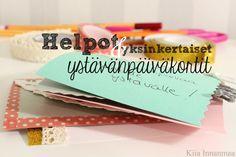 Kiia Innanmaa: DIY ystävänpäiväkortit