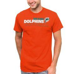 Miami Dolphins Horizontal Text T-Shirt - Orange