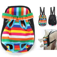 Colorful Cotton Canvas Puppy Pet Dog Carrier Front Backpack Carrier Net Bag Assorted Assortment Pattern S