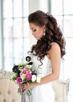 nice Красивые свадебные прически в 2016 году (65 фото) - Для всех типов волос с фатой и без Читай больше http://avrorra.com/svadebnye-pricheski-fata-foto/