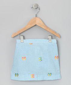 Flip-Flop Seersucker skirt