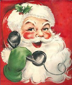 Vintage Santa Claus Calls All Good Children