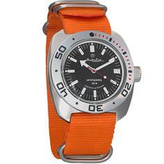 4037 Vostok Amphibian Automatic Mens WristWatch Self-winding Military Diver Amphibia Ministry Case Wrist Watch #710662