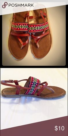 Tribal sandals Size 8 tribal leather sandals only worn once- they look brand new! Mossimo Supply Co Shoes Sandals