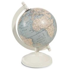 Globe terrestre blanc H 20 cm ATHINIGANE