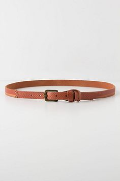 Two-Tone Skinny Belt from Anthropologie to wear with all my denim. #dreamindenim