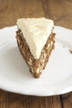 Almond Cake with Maple Buttercream via DeliciouslyOrganic.net