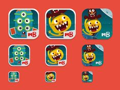 Monsters Band game new icons by Jordi Manuel