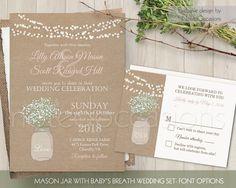 Hey, I found this really awesome Etsy listing at https://www.etsy.com/listing/221829318/rustic-wedding-invitation-mason-jar
