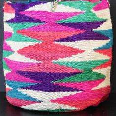 Extra Large Amazingly Colorful Hand Woven Agave by thedistantpast, $45.00