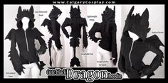 How to train your dragon toothless Halloween cosplay costume Idea