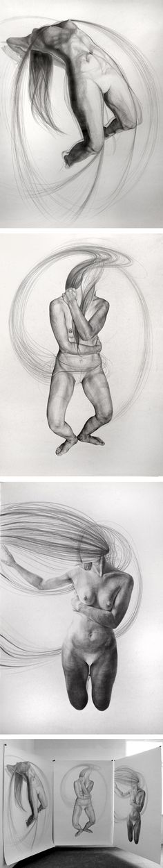 Drawing. Pencil on paper. 180x140 ~ Chemistry of love ~ by Monika Voláková