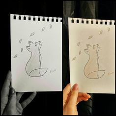 fox draw drawing selfmade paint painting