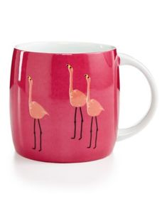 Whim by Martha Stewart Collection Mugs Collection Flamingo Mug, Only at Macy's | macys.com